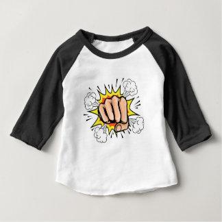Pop-Kunst-Cartoon-Faust-Grafik Baby T-shirt