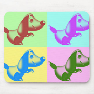 Pop-Kunst-Cartoon-Hundemausunterlage Mousepads