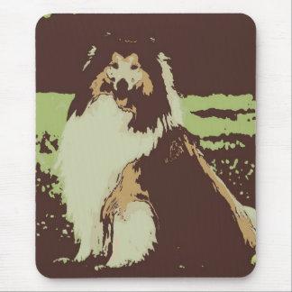 Pop-Kunst-Collie-Hund Mauspads