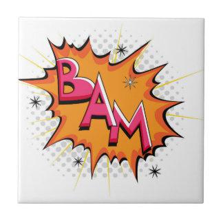 Pop-Kunst-Comic-Bam! Fliese