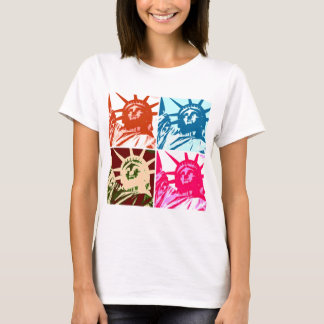 Pop-Kunst-Dame Liberty New York City T-Shirt