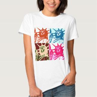 Pop-Kunst-Dame Liberty New York City Tshirts