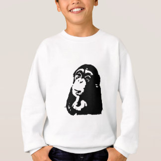 Pop-Kunst-denkender Schimpanse Sweatshirt