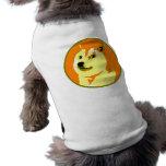 Pop-Kunst dogecoin Entwurf Ärmelfreies Hunde-Shirt