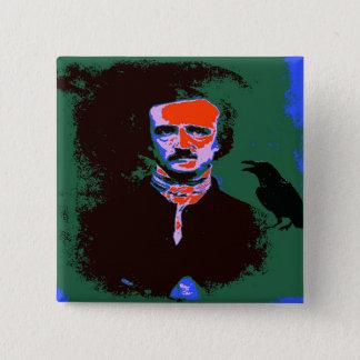 Pop-Kunst Edgar Allan Poe Quadratischer Button 5,1 Cm