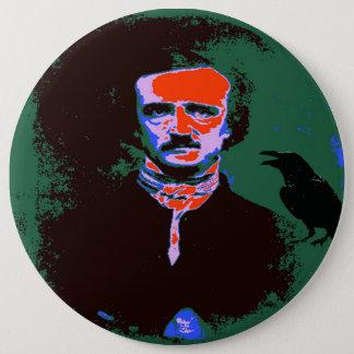 Pop-Kunst Edgar Allan Poe Runder Button 15,3 Cm
