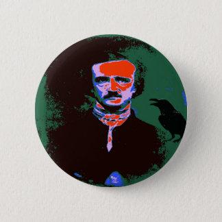 Pop-Kunst Edgar Allan Poe Runder Button 5,1 Cm