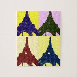 Pop-Kunst-Eiffel-Turm Jigsaw Puzzles