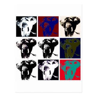 Pop-Kunst-Elefanten Postkarten