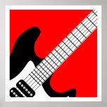Pop-Kunst-elektrische Gitarren-Plakat