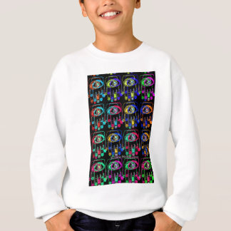 Pop-Kunst-Farbe Hamsa durch Katie Pfeiffer Sweatshirt