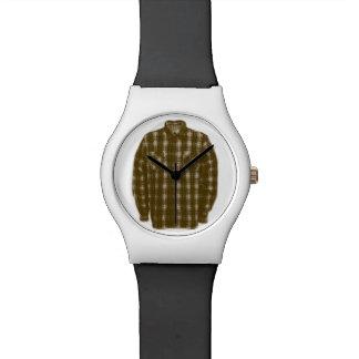 Pop-Kunst-Flanell-Shirt Uhr