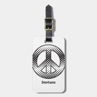 Pop-Kunst-Friedenssymbol Gepäckanhänger