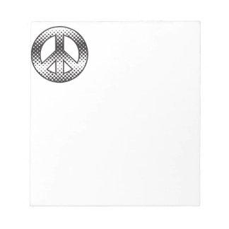 Pop-Kunst-Friedenssymbol Notizblock