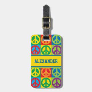 Pop-Kunst-Friedenssymbole Gepäckanhänger