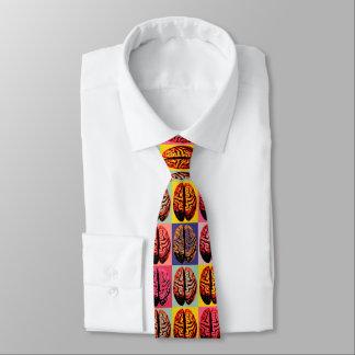 Pop-Kunst-Gehirn Individuelle Krawatten