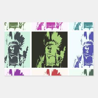 Pop-Kunst Geronimo Rechteckiger Aufkleber