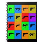 Pop-Kunst-Gewehre Notizbücher