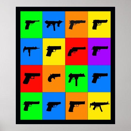 Pop-Kunst-Gewehre Poster