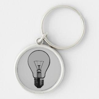Pop-Kunst-Glühlampe Schlüsselanhänger
