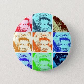 Pop-Kunst-Gorilla Runder Button 5,7 Cm