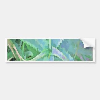 Pop-Kunst-graue grüne Aloe Autoaufkleber