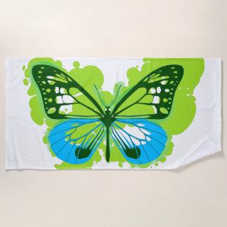 Pop-Kunst-Grün-Schmetterlings-Badetuch Strandtuch