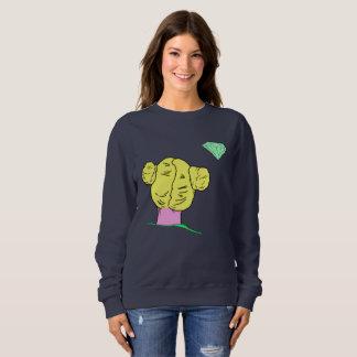 Pop-Kunst-Haar-Brötchen-Sweatshirt Sweatshirt