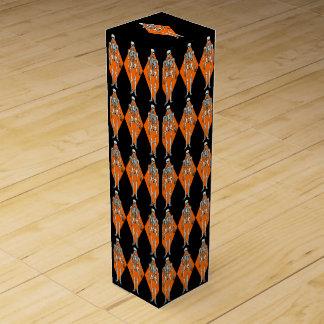 Pop-Kunst-Halloween-Harlekin-Skeleton Flaschen Geschenkverpackungen
