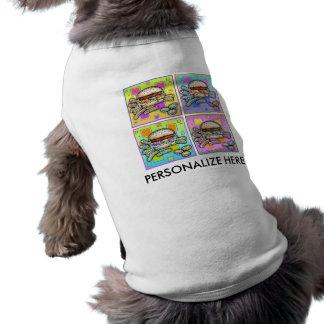 Pop-Kunst HAMBURGER-HAUSTIER-T-STÜCK Shirt