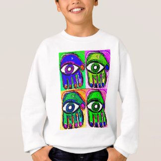 Pop-Kunst Hamsa durch Katie Pfeiffer Sweatshirt