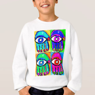 Pop-Kunst Hamsa durch Katie Pfeiffer Sweatshirt