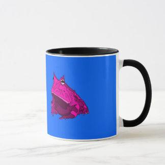 Pop-Kunst-horniger Frosch-Tasse Tasse