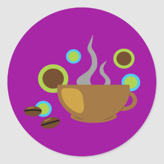 Pop-Kunst-Kaffee Runder Aufkleber