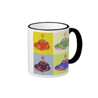 Pop-Kunst-Kaffee-Tasse Ringer Tasse