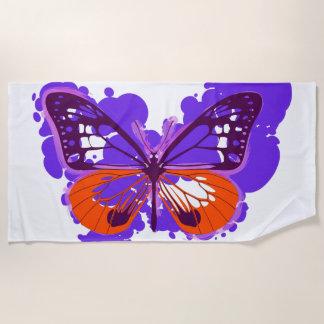 Pop-Kunst-lila Schmetterlings-Badetuch Strandtuch