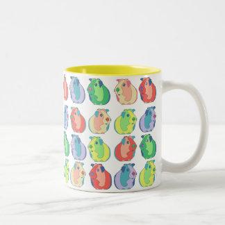Pop-Kunst-Meerschweinchen-Muster Zweifarbige Tasse
