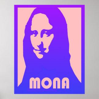 Pop-Kunst Mona Lisa Poster