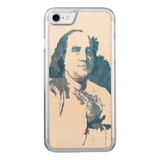Pop-Kunst-Porträt Bens Franklin im Blau Carved iPhone 8/7 Hülle