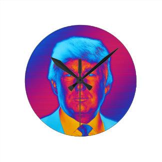 Pop-Kunst-Präsident Trump Runde Wanduhr