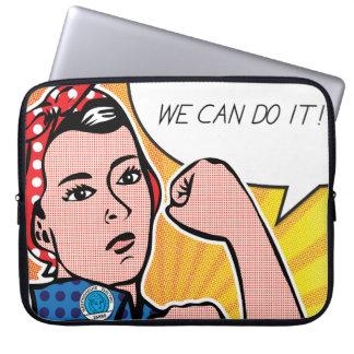 Pop-Kunst Rosie der Nieteneinschläger Roy Lichtens Laptop Computer Schutzhülle