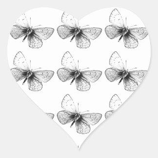Pop-Kunst-Schmetterling Herz Sticker