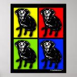 Pop-Kunst-Schwarz-Labrador-Retriever Posterdruck
