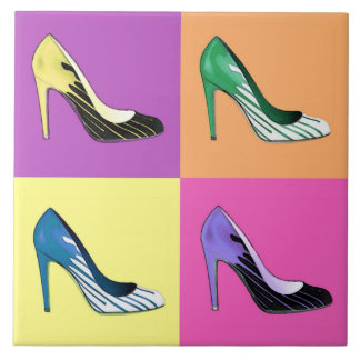 Pop-Kunst-Stilett pumpt,/Schuhe/hoch Heels Fliese