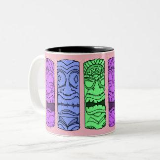 Pop-Kunst Tiki HauptTasse Zweifarbige Tasse