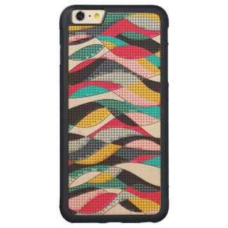Pop-Kunst-Welle Carved® Maple iPhone 6 Plus Bumper Hülle