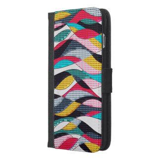 Pop-Kunst-Welle iPhone 6/6s Plus Geldbeutel Hülle