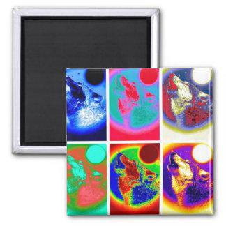 Pop-Kunst-Wolf Quadratischer Magnet