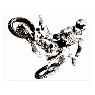 Pop-KunstMotocross Motorcyle Sport Postkarte