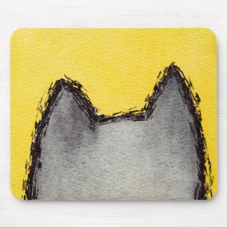 Pop-Kunstpussycat-Gelb Mousepad